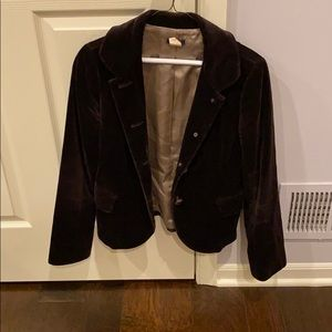 J. Crew brown velvet blazer